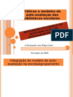 Integracao Do Modelo de Auto-Avaliacao Na Escola-Agrupameto
