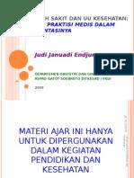 UU Kesehatan Dan RS JJE 20091214