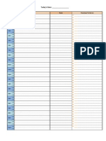 Free Printable Daily Excel Planner