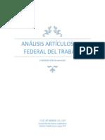 Análisis Artículos de La Ley Federal Del Trabajo