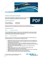 Isc2014 Abstract Guidelines
