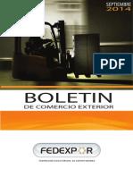 Boletin Mensual de Comercio Exterior FEDEXPOR Septiembre 2014