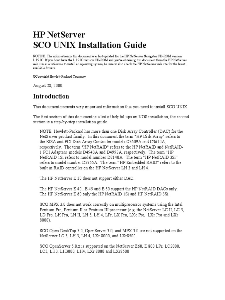 Driver for HP J3171A