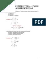 Analise Combinatória - Passo a Passo