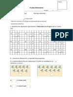 Prueba Matemática 20-08