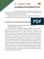 Derecho Civil Temas 1 Al 85