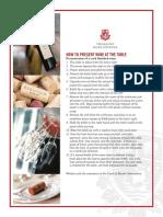 TWE Tableside Wine Presentation