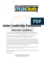 Jr Leaders Interview Guide