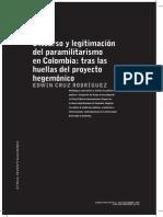 Discurso y legitimación del paramilitarismo en Colombia