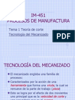 IM 451 Tecnoligía Del Mecanizadox