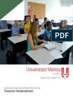 Catalogo Formacion Interdisciplinarias