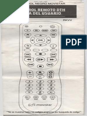 CONTROL REMOTO UNIVERSAL MOVISTAR NEGRO pdf | Control remoto | Disco