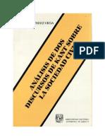 Análisis de Dos Discursos de Kant Sobre La Sociedad Civil_ Hernández Vega, Raúl_ 1991