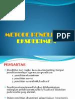 Metode Pen. Eksperimen (Bab 4)