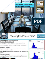 Lean Six Sigma Executive Overview (Case Study) Templates