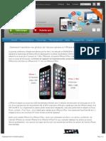 Comment transférer les photos de l'ancien iphone à l'iPhone 6