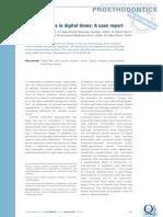 5 . Prosthodontics in Digital Times a Case Report