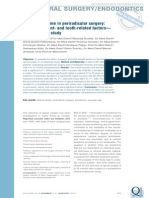 8 . Clinical Outcome in Periradicular Surgery Effect of Patient- And Tooth-related Factors - A Multicenter Study