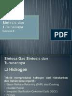 Sintesa Gas Sintesis Dan Turunannya