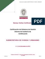 Informe Auditoria de Certificación Bureau Veritas
