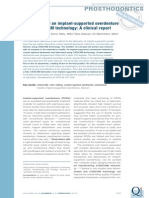 6 . Fabrication of an Implant-supported Overdenture Using CAD-CAM Technology a Clinical Report