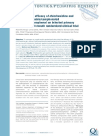 4 . Antimicrobial Efficacy of Chlorhexidine and Calcium Hydroxide Camphorated Paramonochlorophenol on Infected Primary Molars a Split-mouth Randomized Clinical Trial