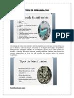 Tipos de Esterilización