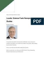 Science Fuels Nanopore Studies