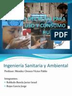 Calidad Del Agua Para Uso y Consumo Humano