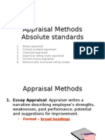 Lecture 7 - Appraisal Methods