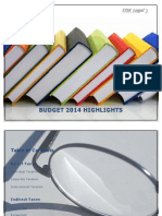 DSK Budget Highlights 2014-15