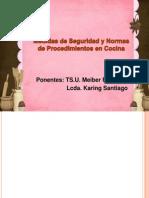 Medidas de Seguridad y Normas de Procedimientos en Cocina