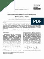 Photochemical Degradation of Sulfamethoxazole