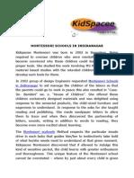 Montessori Schools in Indiranagar