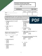 Form 2 Soalan exam