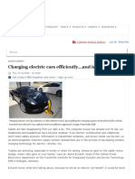 Charging Electric Cars Efficiently…and Inductively