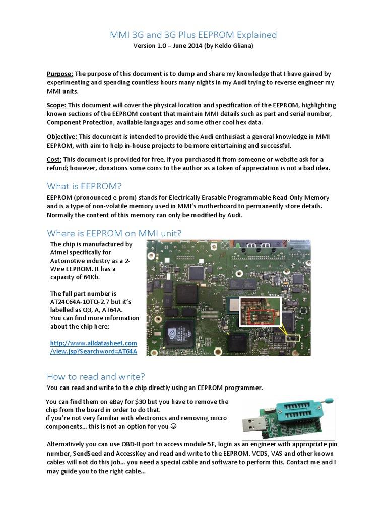 232778739-MMI-3G-and-3G-Plus-EEPROM-Explained (1) pdf | Ingeniería