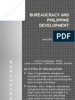 Bureaucracy and Philippine Development