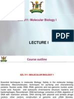 Lecture  Molecular Biology I