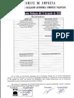 Acta Comité Autonómico Tragsa UT2 Comunitat Valenciana 11-08-2014