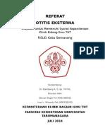 Referat Otitis Eksterna