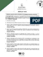 Edital da sessão extraordinária da Assembleia Municipal de Sintra de 30 de Setembro