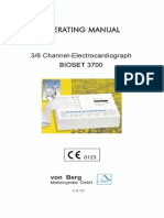 Von Berg Bioset 3700 ECG - User Manual
