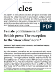 Female politicians in the British press