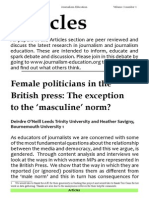 Female politicians in the British press