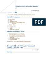 Oracle Application Framework ToolBox Tutorial Lessons
