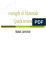 Strength of Materials- Quick Review