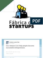 Apresentação Da Fábrica de Startups Para Microsoft