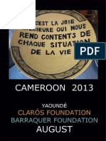 Humanitarian trip Cameroon 2013