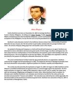 Andres Bonifacio Biography